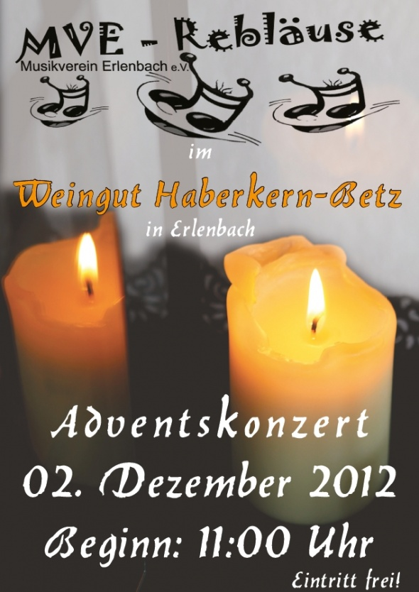 Adventskonzert MVE-Rebläuse 2012