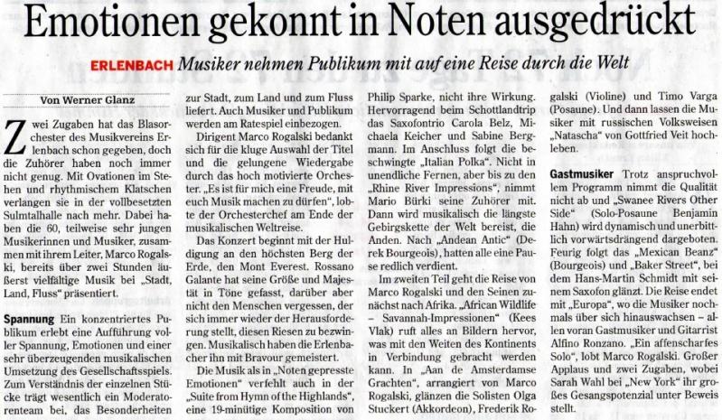 Bericht Heilbronner Stimme 27.03.2013