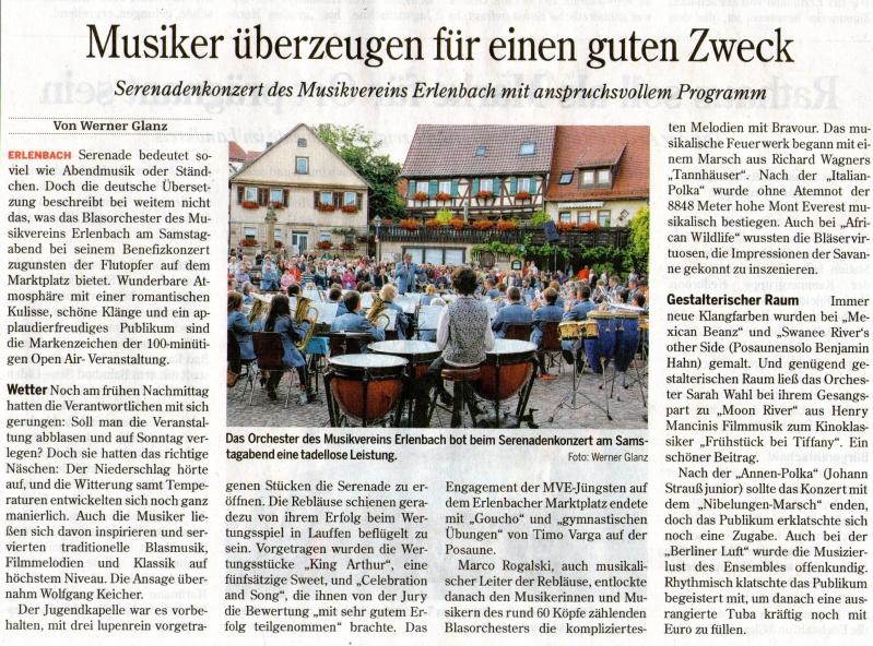 Bericht Serenadenkonzert 2013 MV Erlenbach